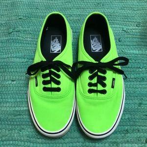 Vans Lime Green Sneakers